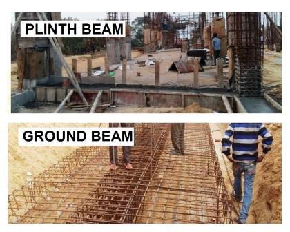 Plinth Beam and Ground Beam