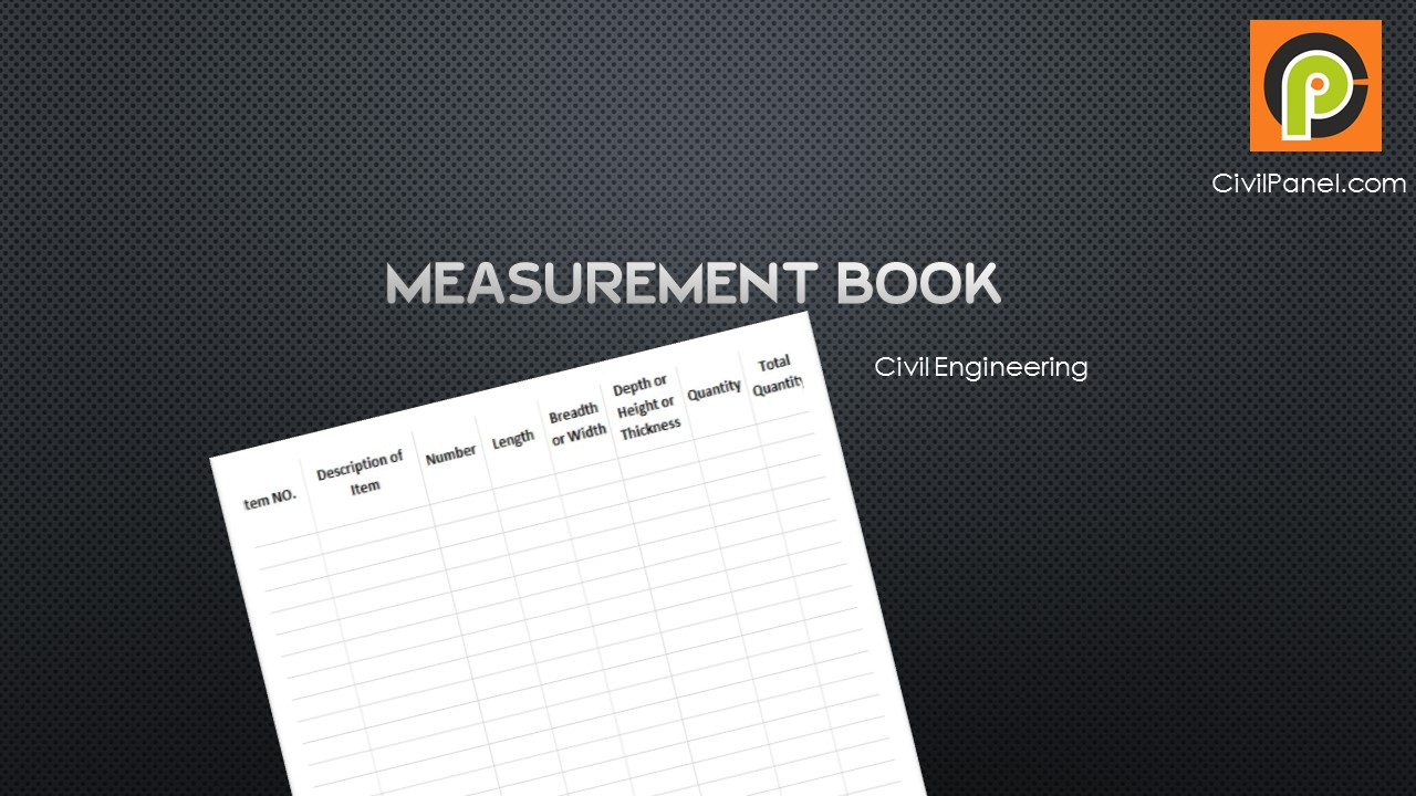 Measurement Book Civil Engineering | Abstract Book