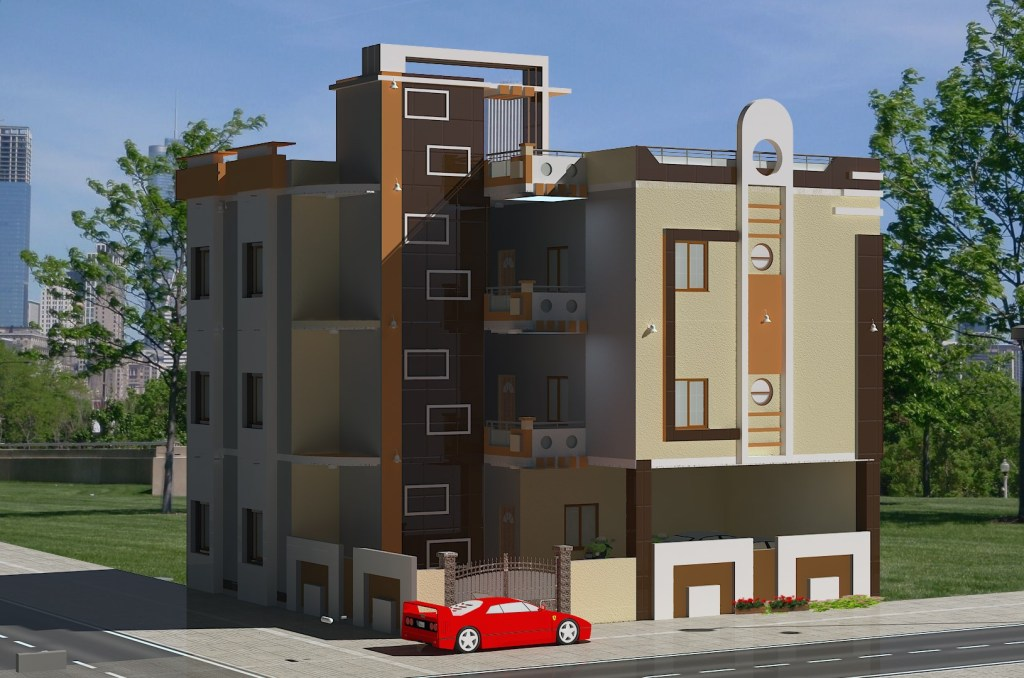 Elevation design multi flat in India