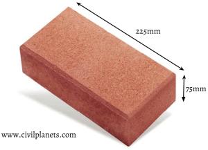 Half brickwork calculation