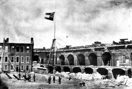 Confederate Flag over Fort Sumter | Image Credit: Wikispaces.com