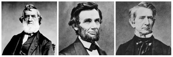 Gideon Welles, Abraham Lincoln, and William H. Seward | Image Credit: Wikimedia.org, Bing Public Domain, quod.lib.umich.edu