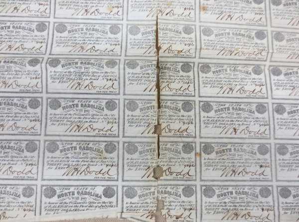Old currency paper
