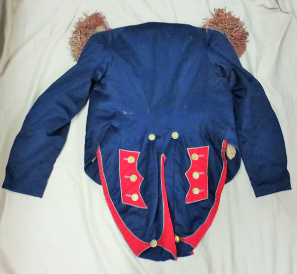 Back view of the uniform coat