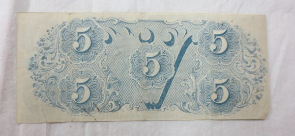 Old two dollar paper bill