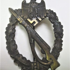 Bronze infantry badge