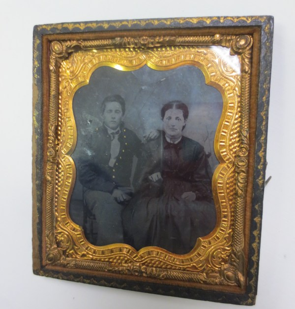 Photo of a couple in a frame