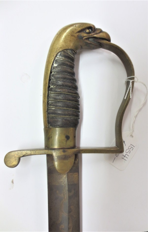 Eagle designed handle of a sword