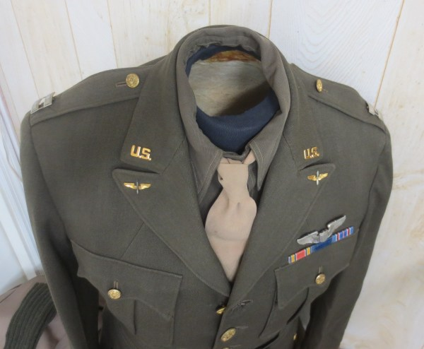Bird's eye view of an army air force uniform