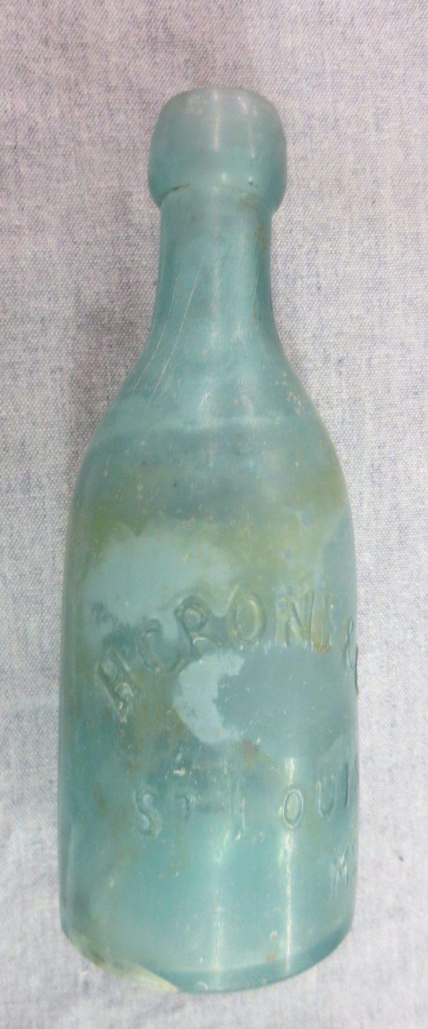 Old green soda bottle