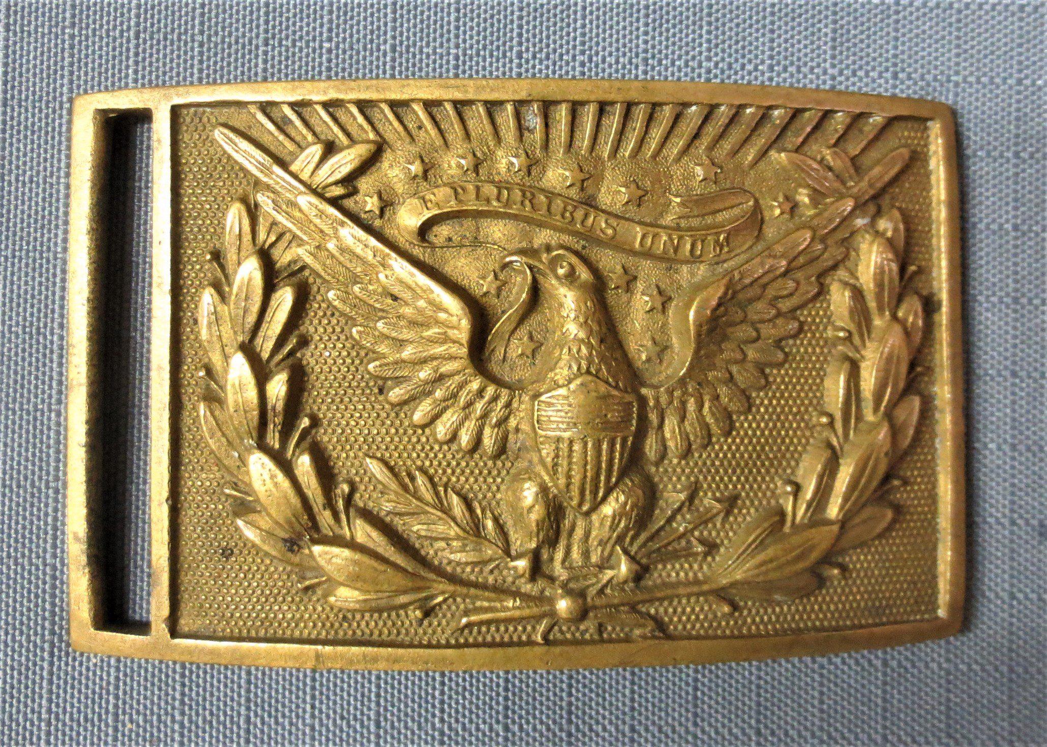Civil War M1851 Officer sword belt plate, near mint condition