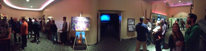 """The lobby of the Rio before the screening of """"Water for Santa Cruz County."""""""