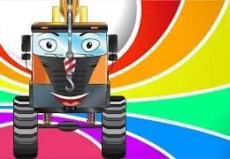 Eğitici çizgi film – Vinç, Kamyon – Akıllı arabalar – Iş Makineleri