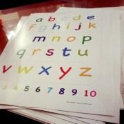 poster alfabet huruf kecil