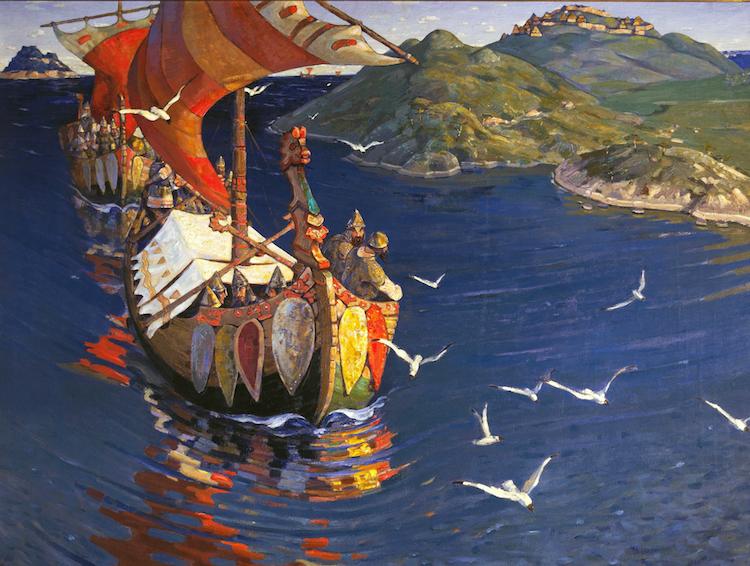 Vikings in Spain: Nicholas Roerich, Guests from Overseas