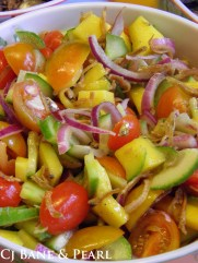 Colors with salad