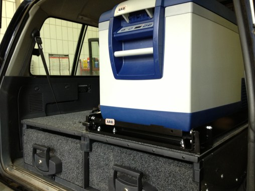 ARB Outback roller drawers, ARB 78l Fridge and roller