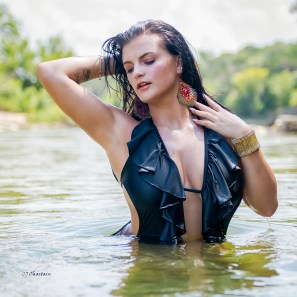 Olivia Harris in the Paluxy River 2019 by photographer Clint Chastain
