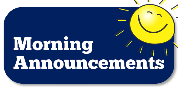morning announcements banner