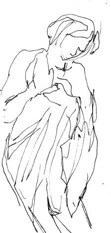 Woman shy