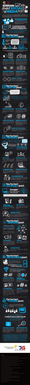 Create a Perfect Social Media Post on Top 7 Networks (Infographic) - An Infographic from CJG Digital Marketing