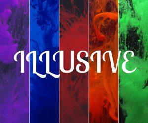 Multi color illusive print