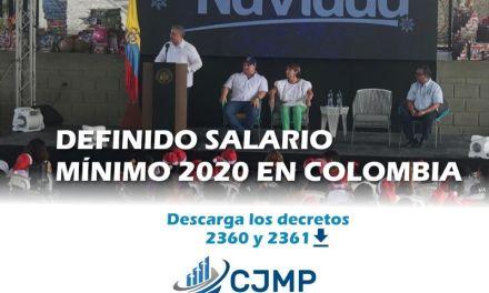 ¡ASI QUEDÓ EL SALARIO MINIMO PARA LOS COLOMBIANOS! DESCARGAR DECRETOS  No. 2360 y 2361 con fecha de 26 de diciembre