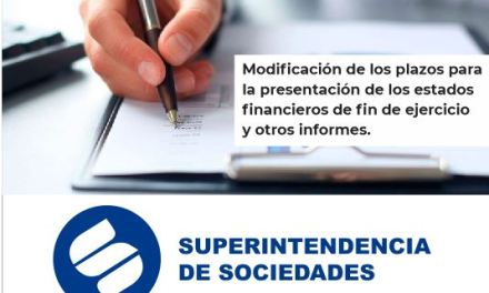 Reporte de estados financieros a la Supersociedades