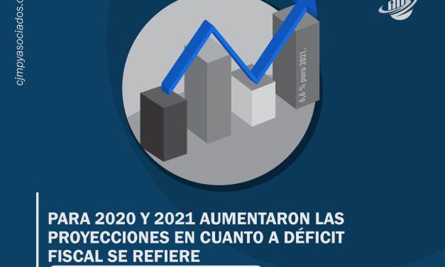 Para 2020 y 2021 aumentaron las proyecciones en cuanto a déficit fiscal se refiere