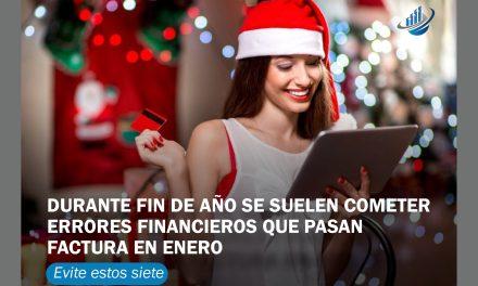 Durante fin de año se suelen cometer errores financieros que pasan factura en enero. Evite estos 7