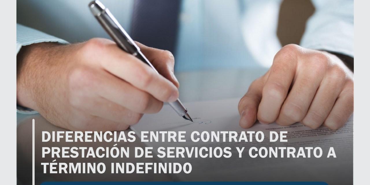 Diferencias entre contrato de prestación de servicios y contrato a término indefinido