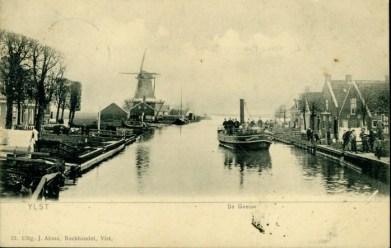Geeuwkade met Trompmolen 1905