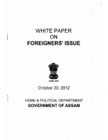 White Paper On Foreigners Issue-20-10-2012