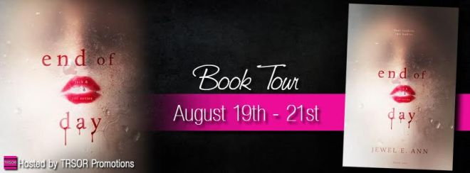 end of day book tour banner