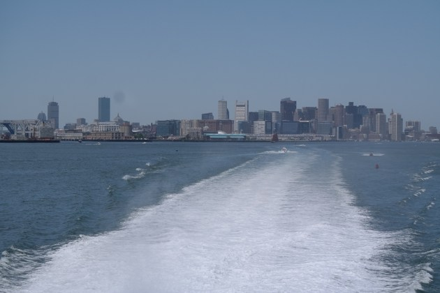 Boston Harbour Whale Watch Schiff Skyline