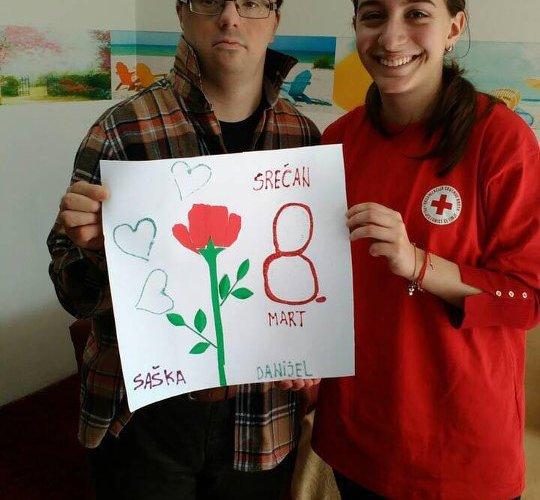 Volonteri povodom 8. marta  posjetili Centar za dnevni boravak
