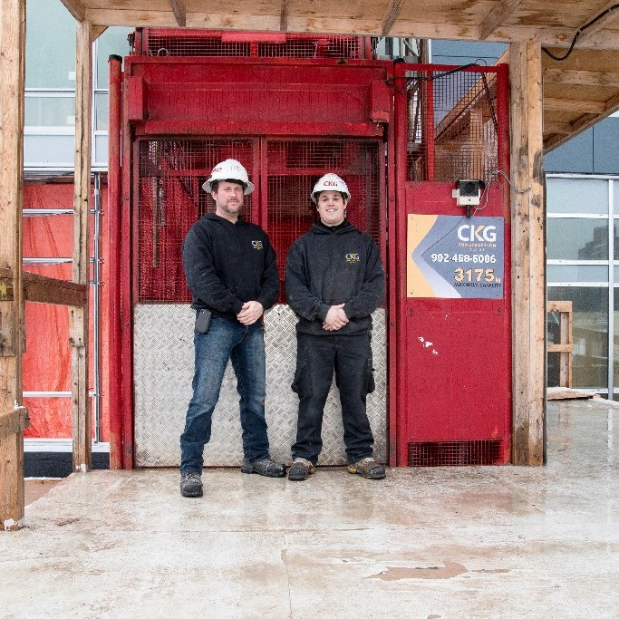 Construction hoist maintenance and construction hoist rentals in Nova Scotia, New Brunswick, and Prince Edward Island