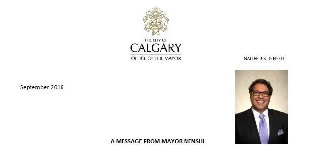 A message from Mayor Nensh