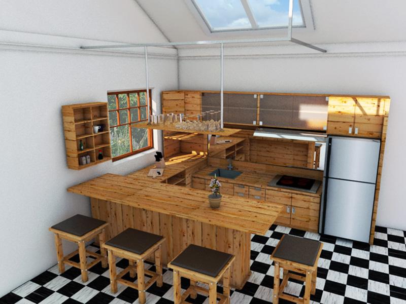 Kitchen Set Jati Belanda DESAIN INTERIOR