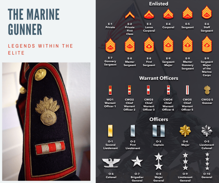 Marine Enlisted and Officer Ranks