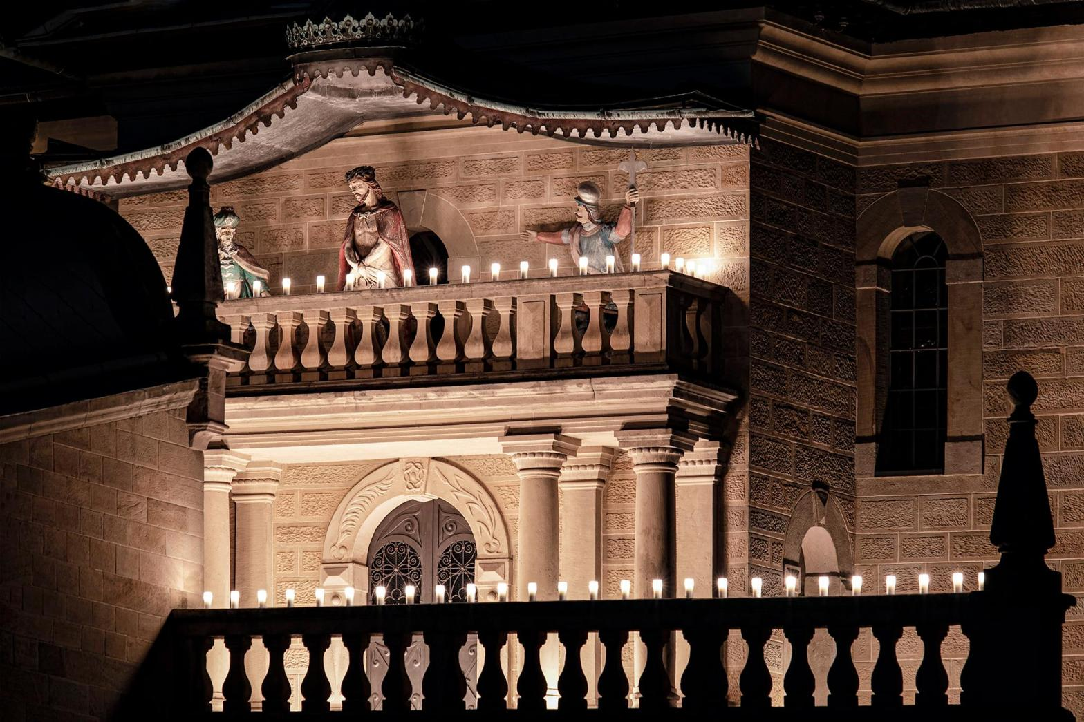 Kaplica Palac Pilata noca - Kalwaria Zeb- zdj Artur Brocki