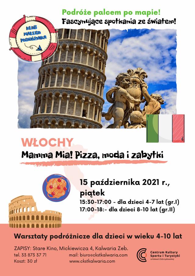 Plakat Klubu Małego Podróżnika - Włochy
