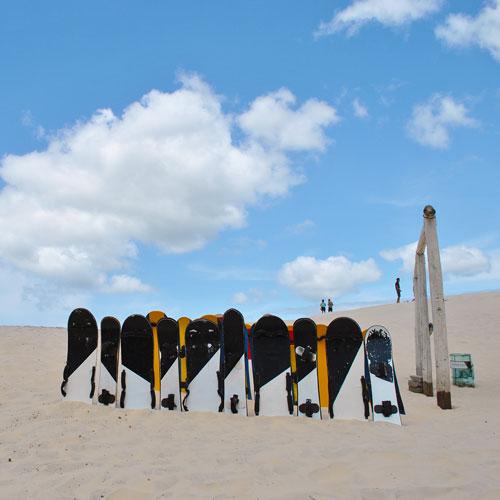 Sandboard nas Dunas de Joaquina em Florianópolis
