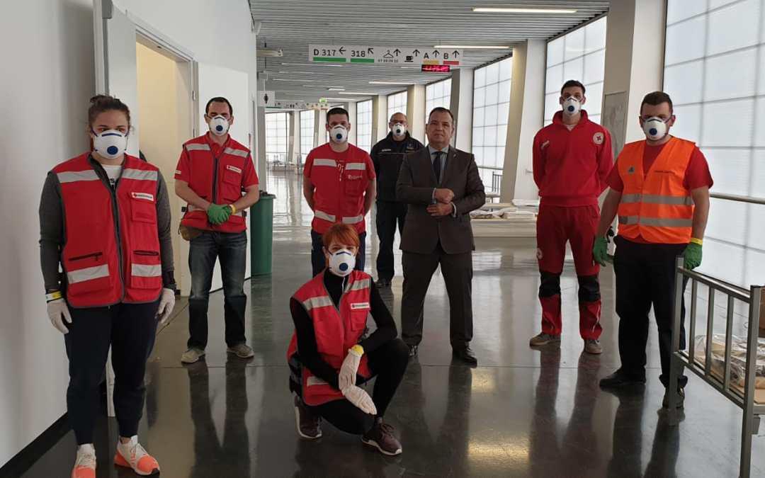 Gradsko društvo Crvenog križa Zagreb sudjelovalo je u pripremi sekundarnog centra za prihvat i smještaj osoba zaraženih koronavirusom