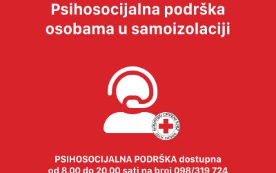 Psihosocijalna podrška osobama u samoizolaciji!