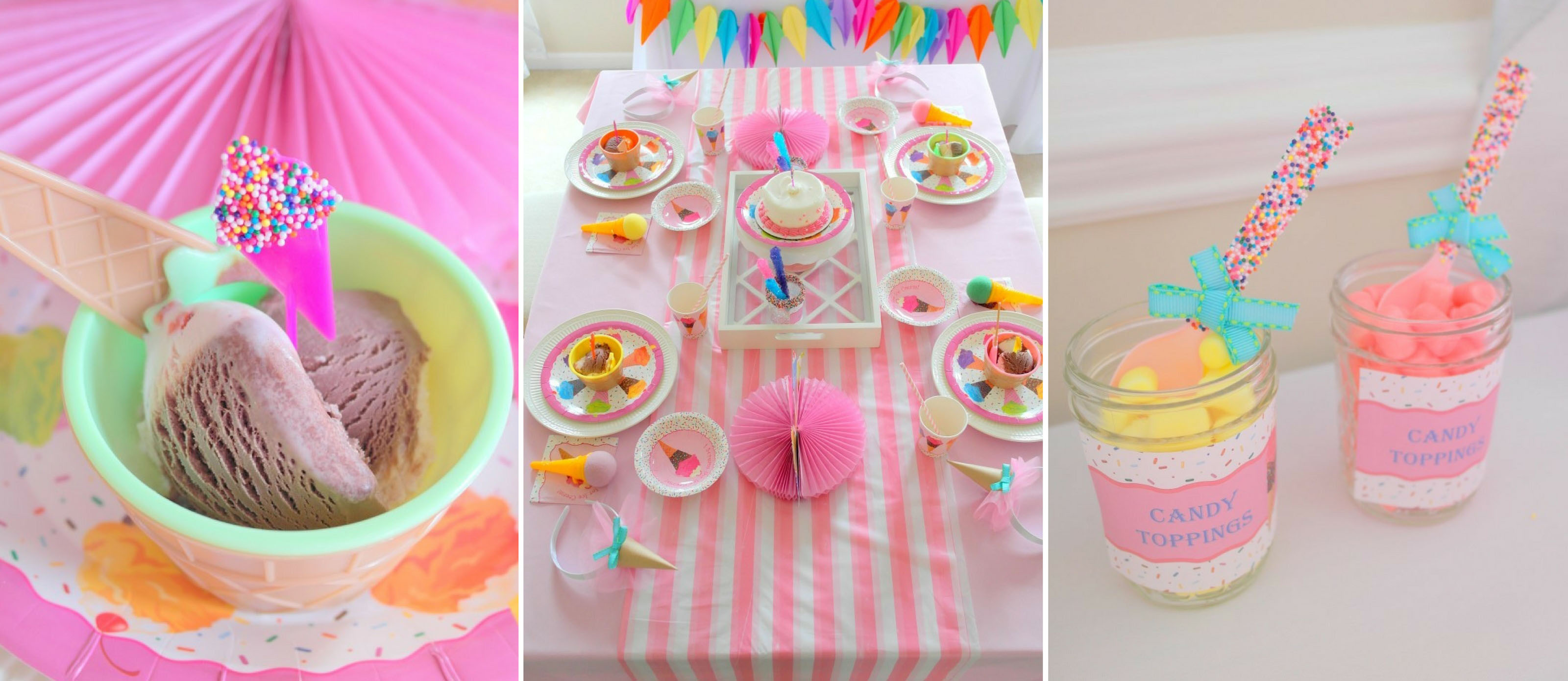 A Sweetly Chic Ice Cream Birthday Party Fun365