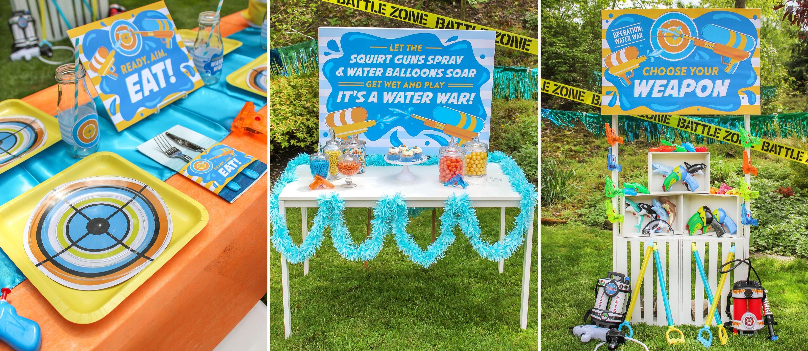 Water War Backyard Birthday Party Fun365