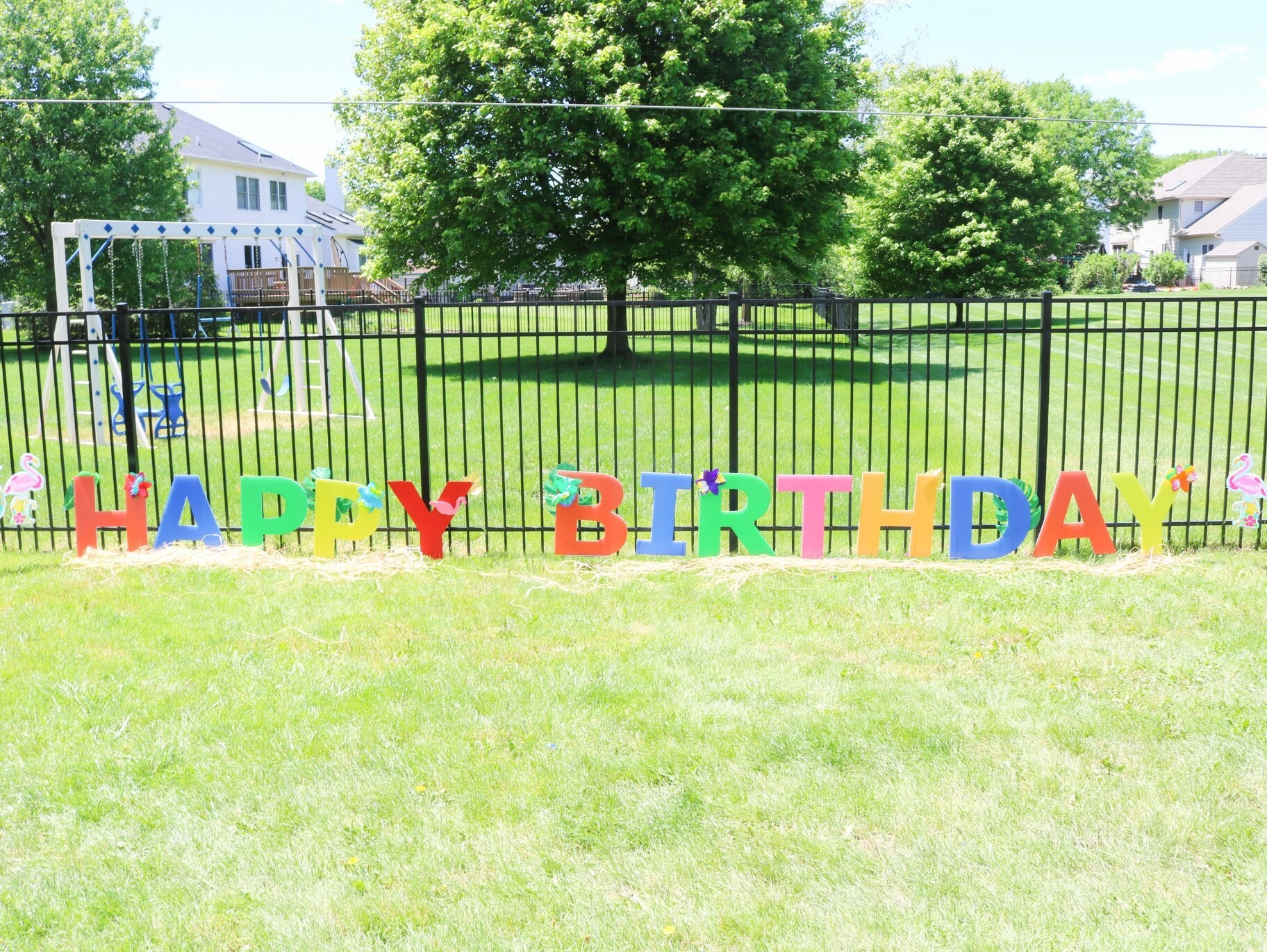 Diy Tropical Birthday Yard Sign Fun365