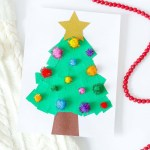 Torn Paper Christmas Tree Kids Craft Fun365
