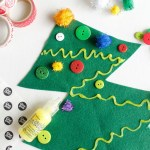 Felt Christmas Tree Kids Craft Fun365